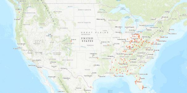 Appalachia & Gulf South Map