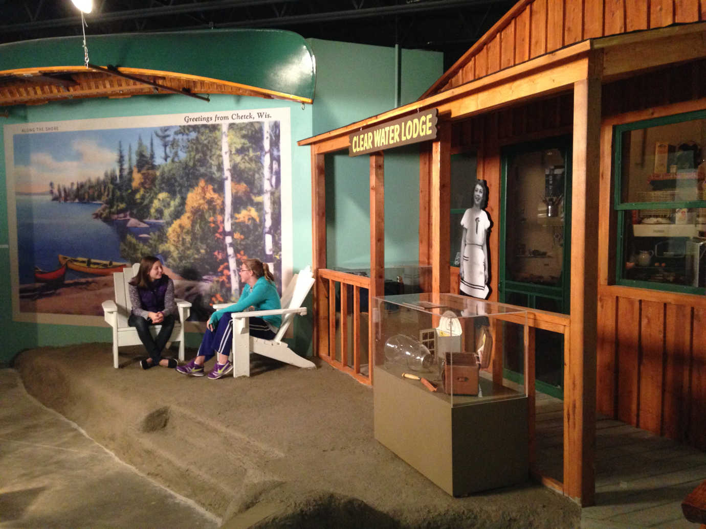 *Changing Currents: Reinventing the Chippewa Valley* includes a number of interactive exhibits exploring the region's history. Image courtesy of the Chippewa Valley Museum.