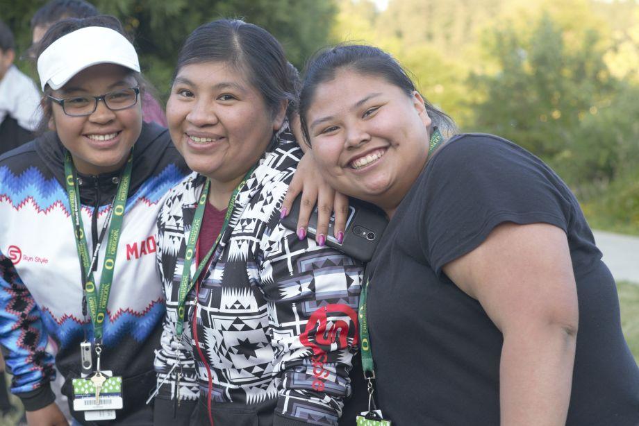 Participants taking a study break during NILI's face-to-face summer institute. Image courtesy of Northwest Indian Language Institute, University of Oregon.