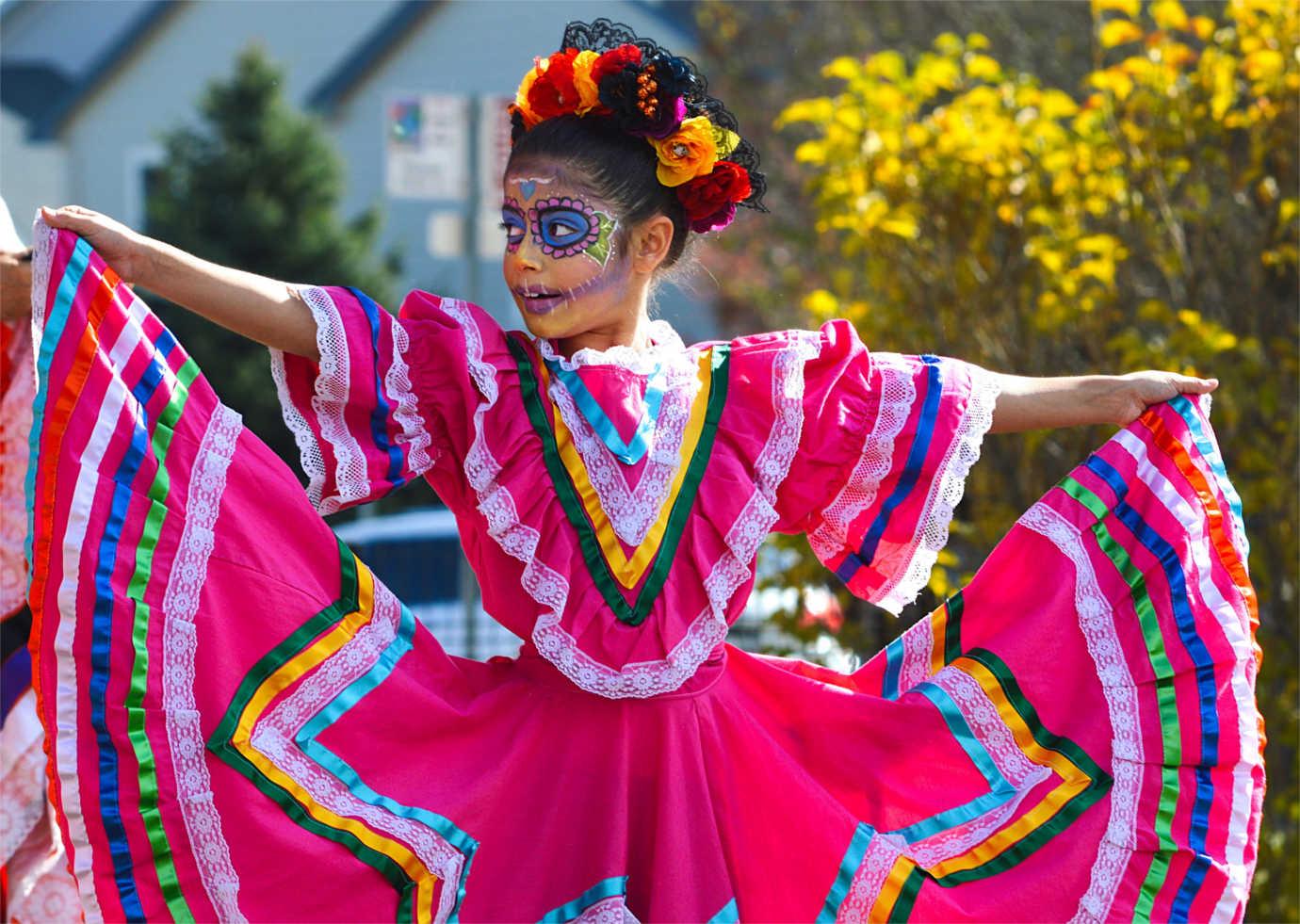 The Longmont Museum's premier event is the annual celebration of *Dia de los Muertos.* Image courtesy of the Longmont Museum.