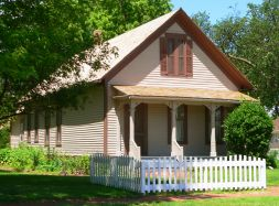 Today, Willa Cather's Childhood Home is a National Historic Landmark and historic house museum. Information about guided tours can be found at the National Willa Cather Center or by visiting the website. Image courtesy of the National Willa Cather Center.