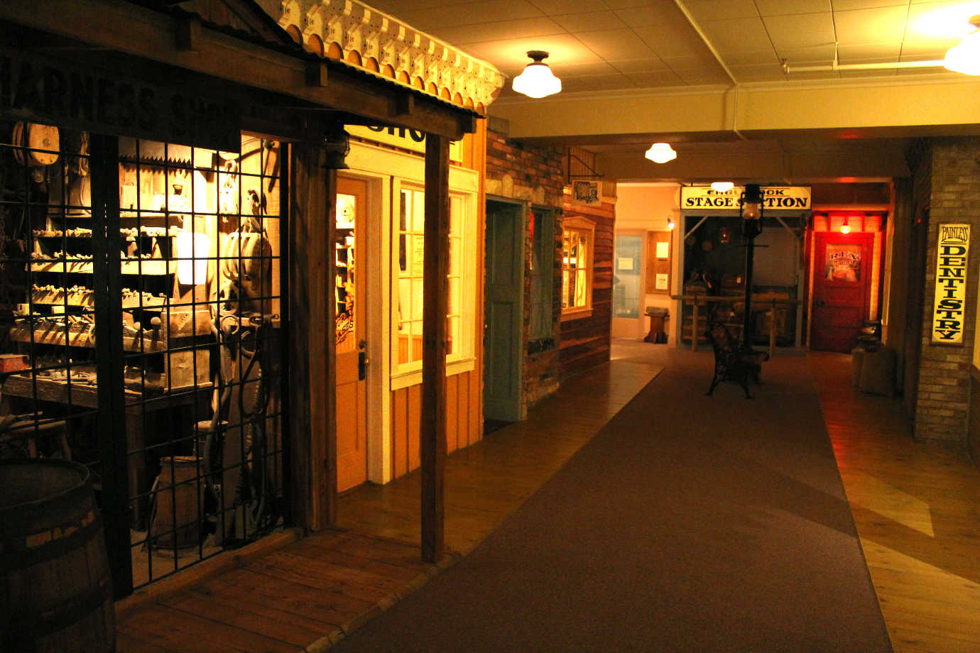The larger space will allow the Museum of Idaho to expand its permanent exhibition from the current *Eagle Rock, U.S.A.*, pictured here, to a more comprehensive exhibition interpreting the region from the Ice Age to the present day. Image courtesy of the Museum of Idaho.