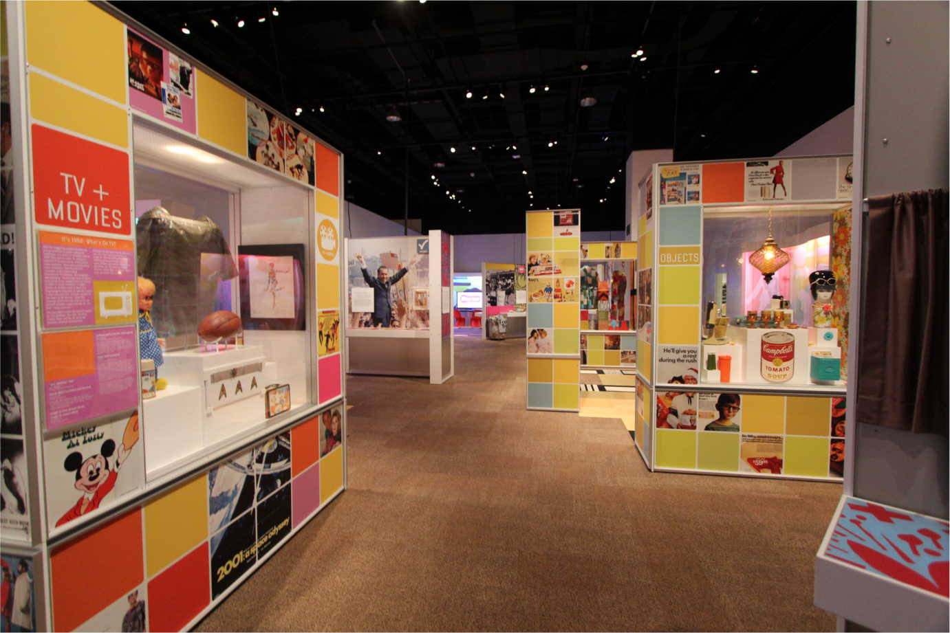 A portion of *The 1968 Exhibit*, a popular traveling exhibition created with funding from the National Endowment for the Humanities. Image courtesy of the Minnesota Historical Society.