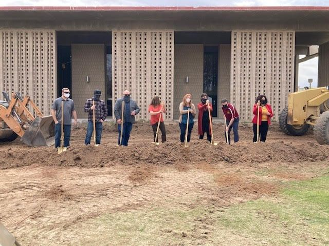 Construction of the library renovations began during the 2020 pandemic. Photo courtesy Arizona Western College.