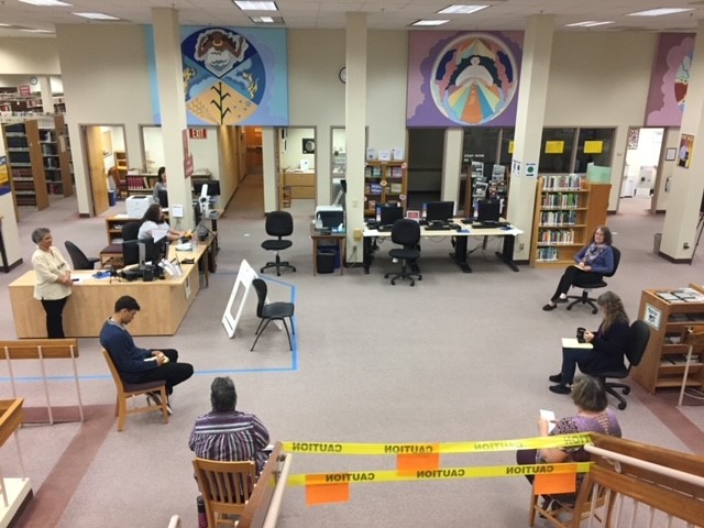 Though the 2020 pandemic delayed much of the in-person programming slated for the renovated library, students and staff were still able to use the space. Photo courtesy Arizona Western College