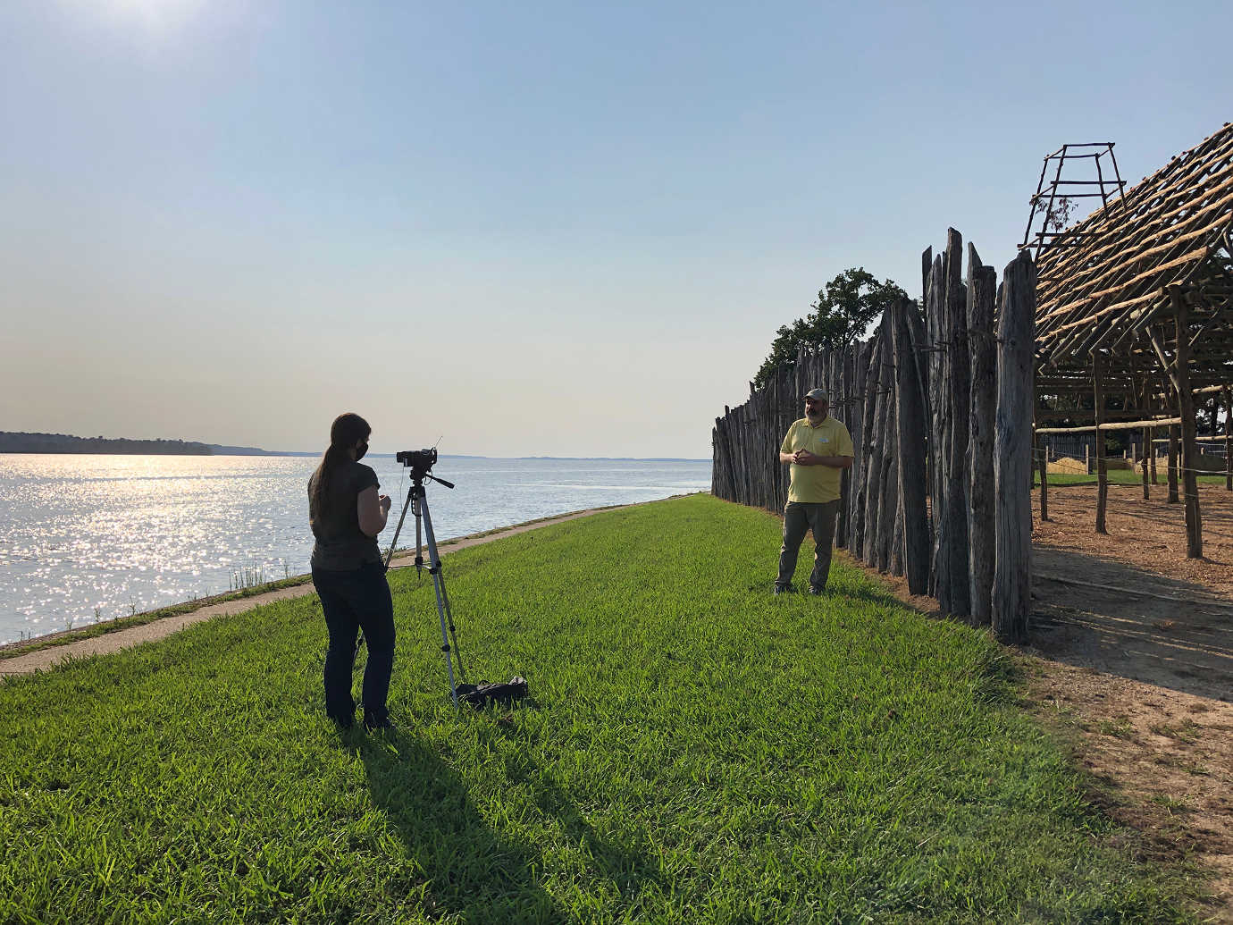 Jamestown Rediscovery staff develop video tours of the Jamestown Fort. Image courtesy of Jamestown Rediscovery.