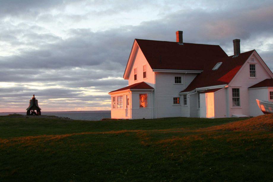 The Monhegan Museum at sunset. Image courtesy of the Monhegan Museum.