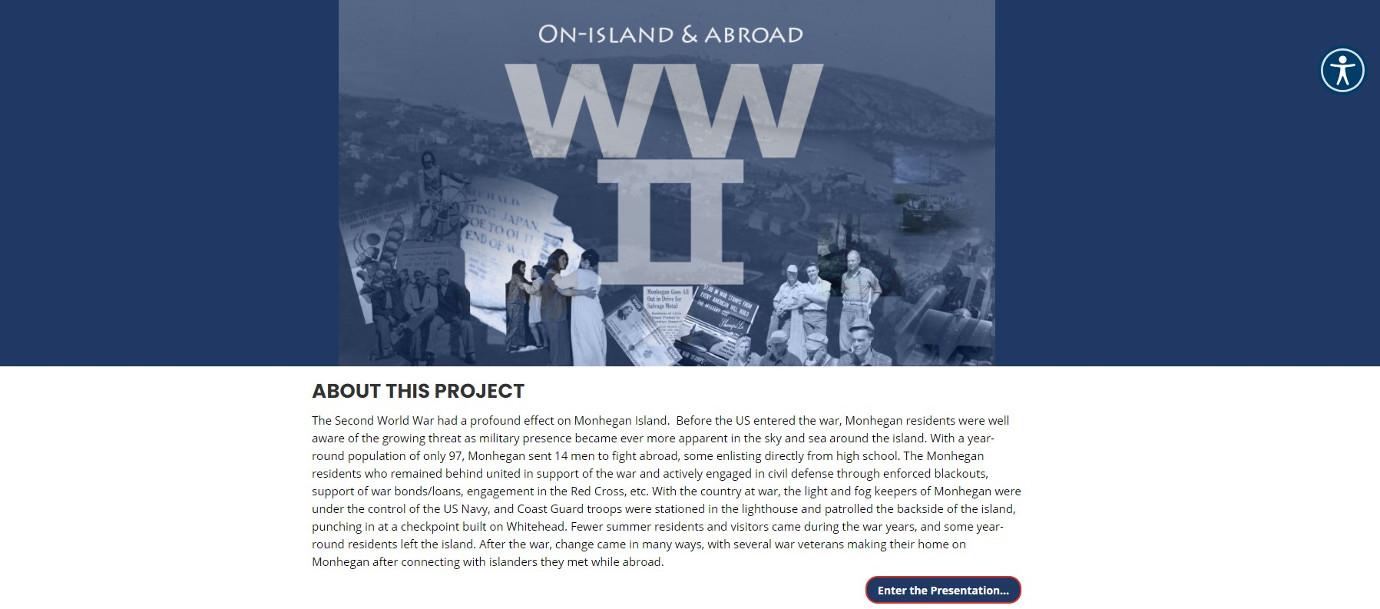 The virtual exhibition explores how World War II shaped life on Monhegan Island. Image courtesy of the Monhegan Museum.