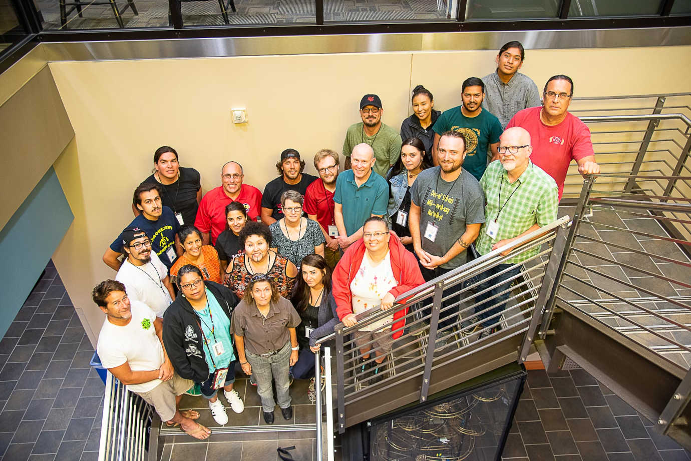 Participants and staff of the Module 2 Workshop for National Breath of Life Archival Institute held at Miami University, Oxford, Ohio. 2019. Photo Credit: Karen L. Baldwin