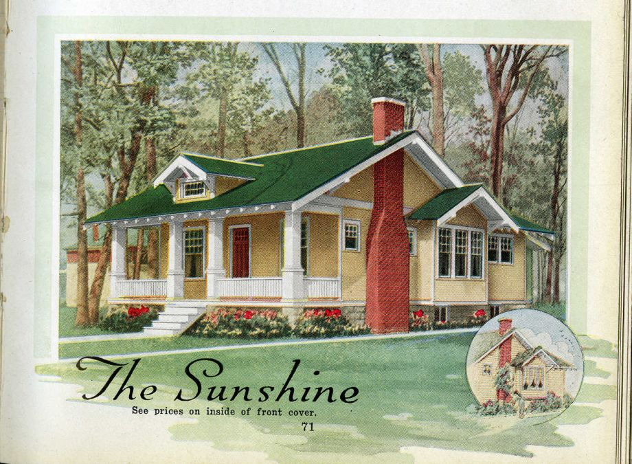 An Aladdin Company home as featured in an annual catalog. The Aladdin Company archives were made accessible through an NEH grant. Image courtesy of the Clarke Historical Library at Central Michigan University.