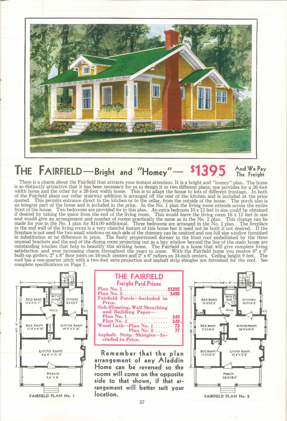 A home featured in the 1931 Aladdin Company Catalog. Image courtesy of the Clarke Historical Library at Central Michigan University.