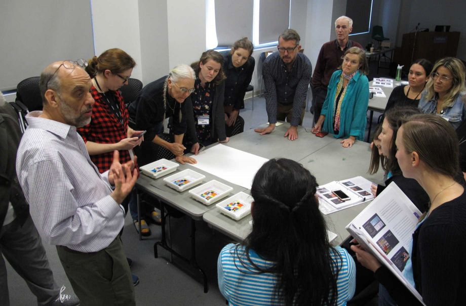 Daniel Burge, senior research scientist, teaches a workshop on digital print preservation. Image courtesy of the Image Permanence Institute.