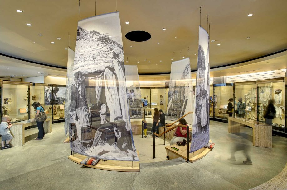 The *Native Voices* exhibition at the Natural History Museum of Utah, a permanent installation funded with an NEH grant. Image courtesy of the Natural History Museum of Utah.