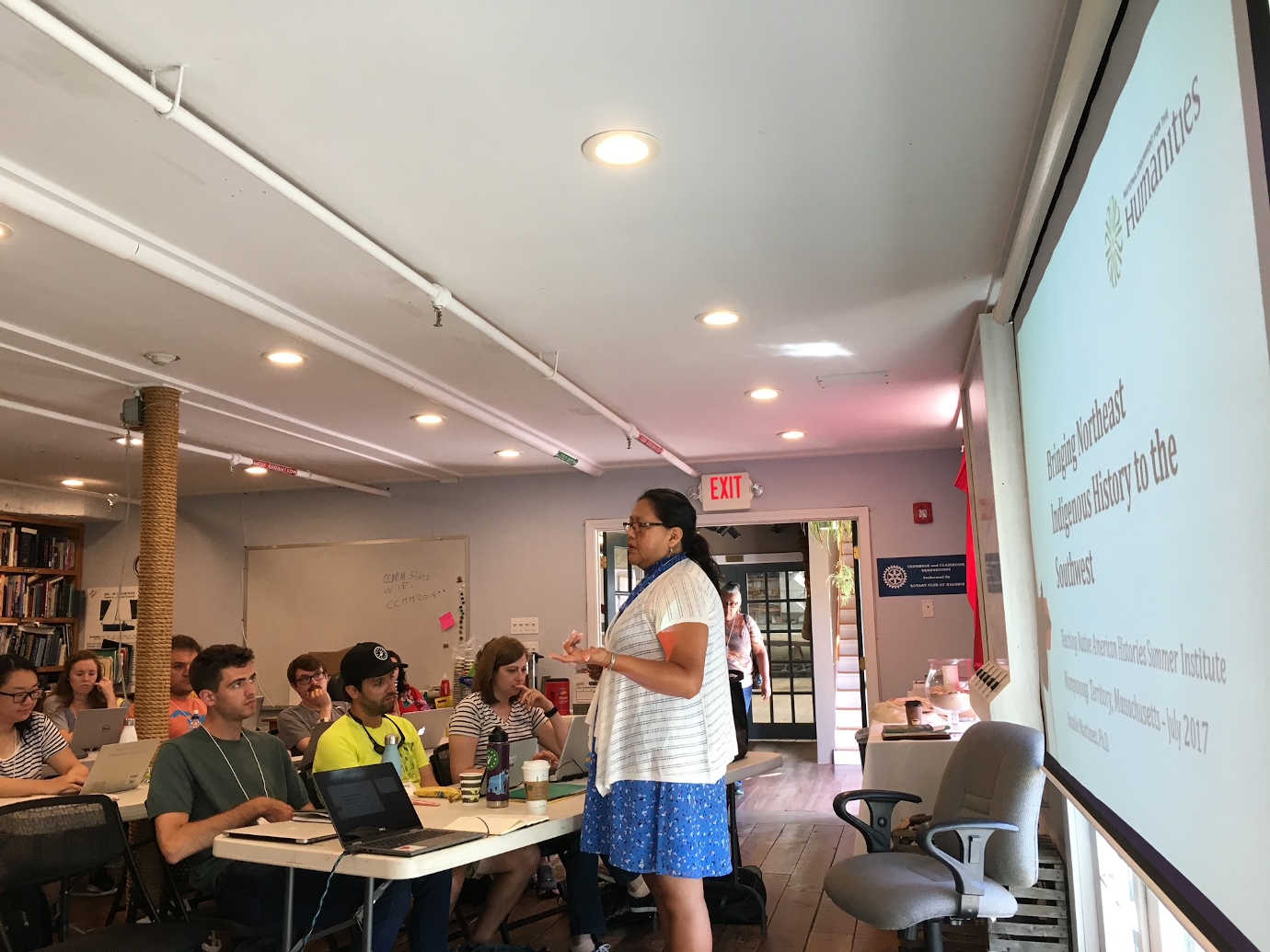 K-12 attend a lecture as part of *Teaching Native American Histories*. Image Courtesy of University of Massachusetts, Amherst