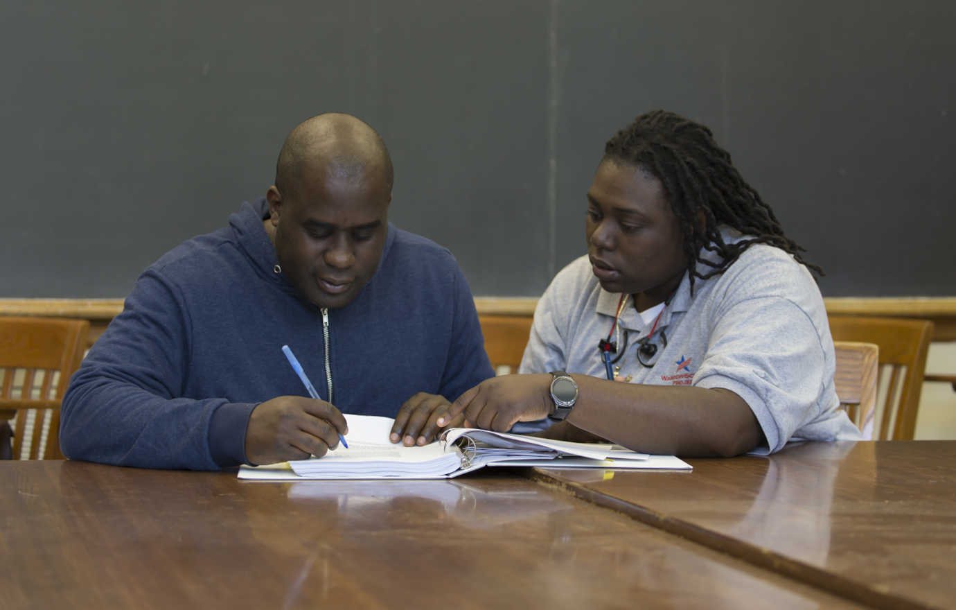 In the afternoons, Warrior-Scholar Project participants take part in writing workshops led by university faculty and staff. Image courtesy of the Warrior-Scholar Project.