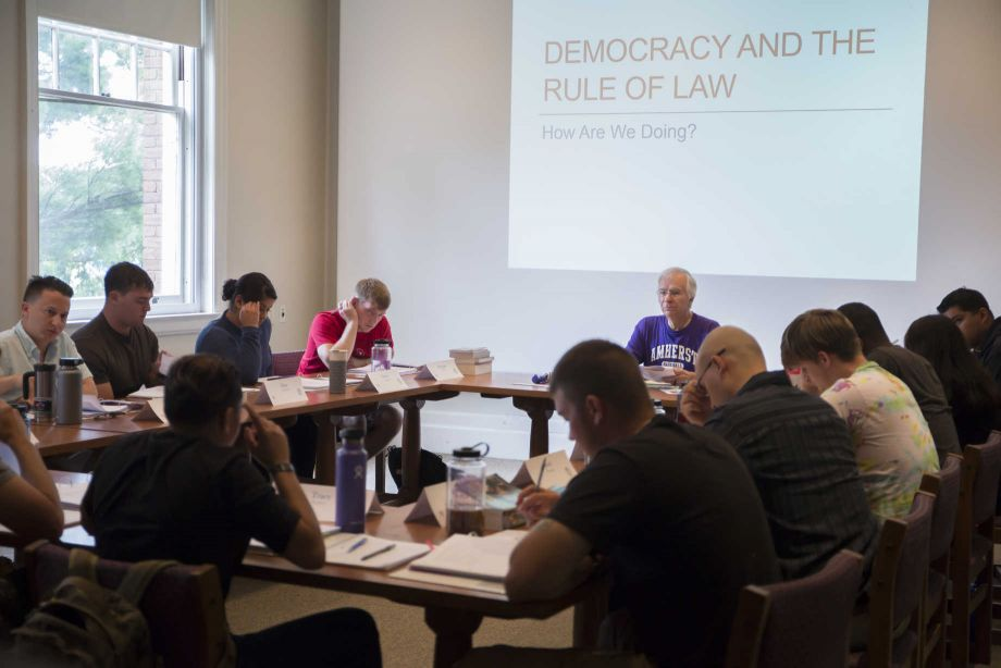 Veterans in the Warrior-Scholar Project read and discuss literature and political theory with some of the nation's best professors. Image courtesy of the Warrior-Scholar Project.
