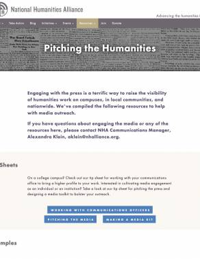 Pitching the Humanities Toolkit