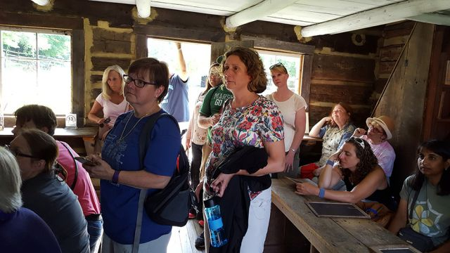 Teachers participating in the Voices From the Misty Mountains summer workshop visit Appalachian heritage sites. Image courtesy of Shepherd University.