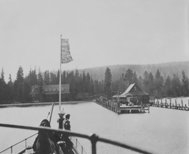 The Steamer Tahoe at the Tahoe Tavern in Tahoe City. Image courtesy of the University of Nevada, Reno.