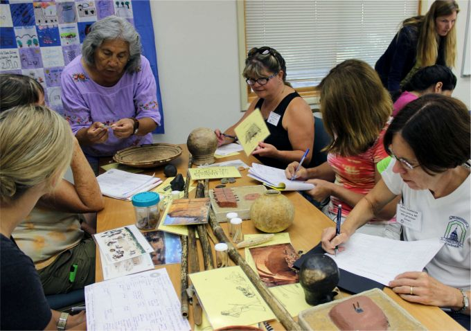Teachers in NEH  Summer Institutes at Crow Canyon Archaeological Center learn archaeological methods. Image courtesy of Crow Canyon Archaeological Center.