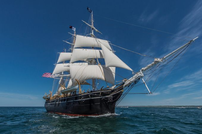 The Charles W. Morgan during its 38th voyage. Image courtesy of the Mystic Seaport Museum.