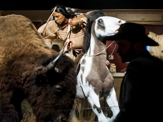 """A diorama from the C.M. Russell Museum's exhibit, """"The Bison: American Icon, Heart of Plains Indian Culture."""" Image courtesy of the C.M. Russell Museum."""