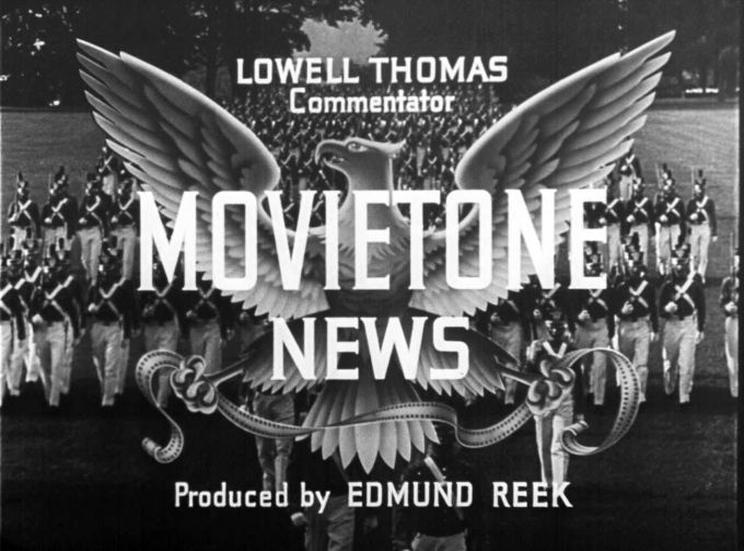 The opening logo for Fox Movietone newsreels. With an NEH grant, the University of South Carolina has made thousands of newsreels available online.  Image courtesy of the University of South Carolina.