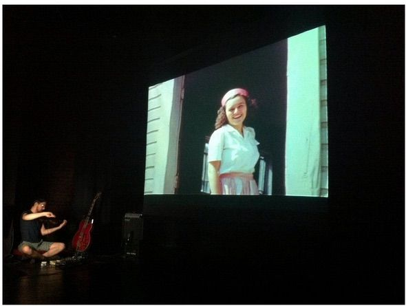 Appalshop Archive screened 1950s-era home movies of Bell County, KY shot by coal camp doctor John Parrott. The preserved silent films were accompanied by a live performance of an original score by Robert Andrew Scott. Photo by Kate Fowler. Image courtesy of Appalshop.