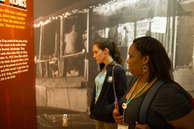 K-12 teachers visit the B.B. King Museum and Delta Interpretive Center in Indianola, Mississippi. Image courtesy of the Delta Center for Culture and Learning at Delta State University.