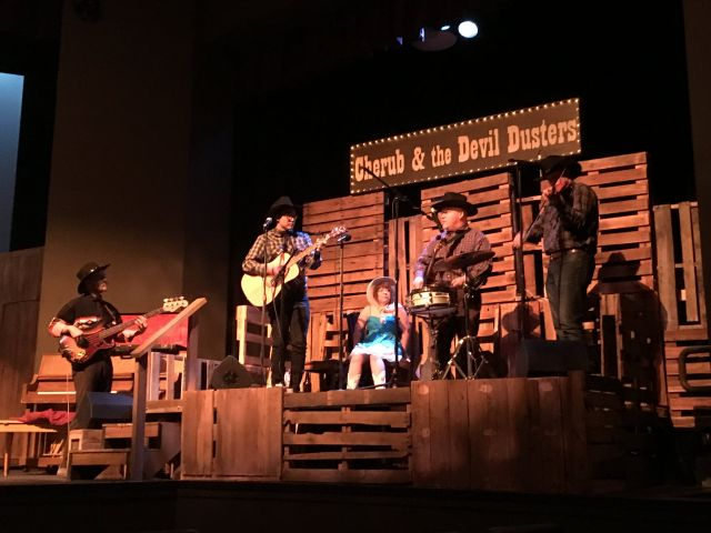 Faculty participants in The Search for Common Ground attended a production of San Joaquin Blues, a play about life in the Central Valley, in order to create curricular units on the performing arts in region. Image courtesy of Modesto Junior College.