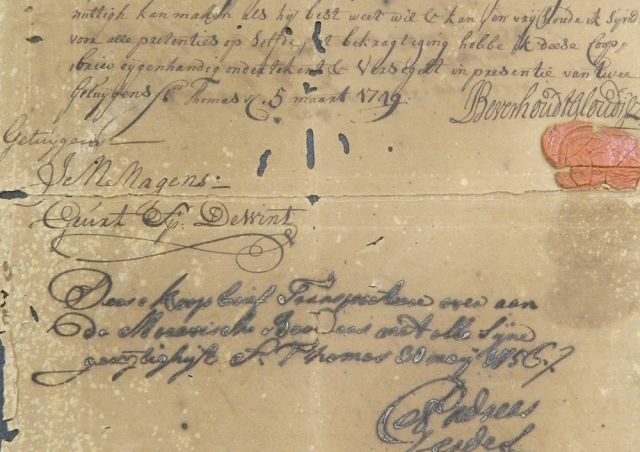 NEH funding helps the Moravian Archives preserve historically-significant documents, many of which are too delicate to handle. Image courtesy of the Moravian Archives.